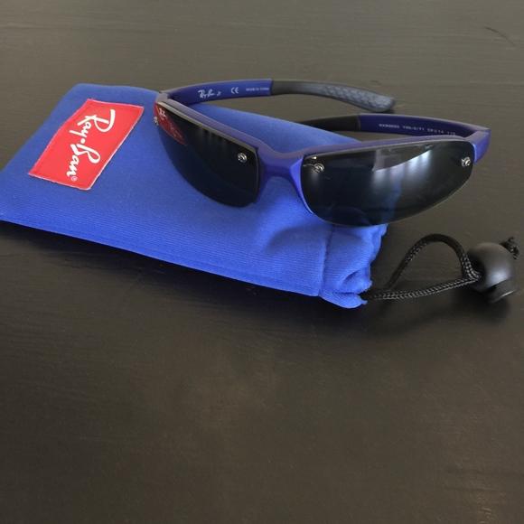 8088a2ad1feeb Rayban Jr Sunglasses with carrying case. M 5c4b71c52e1478f9c02b66c5